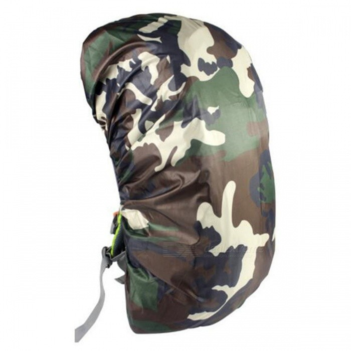 CTSmart 60L Outdoor Mountaineering Camouflage Wear-Resistant Backpack Cover - Jungle CamouflageColorJungle camouflageQuantity1 pieceMaterialOxford clothBest UseTravelPacking List1 x Rain Cover<br>