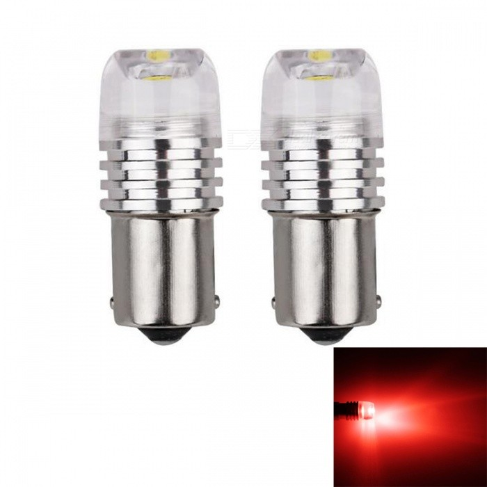 JRLED 1156 BA15S P21W 3W Red Light COB LED Stoplight, Automobile Brake Light Taillight (2 PCS / DC12V)Tail Lights<br>Emitting ColorRedModel1156 LEDQuantity2 piecesMaterialAluminum alloy and acrylicPower3 WWorking VoltageDC12VConnectorOthers,1156Bulb SpecificationCOBBrightness130LmColor BIN635nmApplicationSide Turn Signals Bulb,Rear Turn Signals Bulb,Brake BulbCertificationCE ROHSOther FeaturesThis product uses all aluminum alloy heat dissipation, waterproof COB light source, concave lens with uniform luminescence.Packing List2 x 1156 LED Lamps<br>