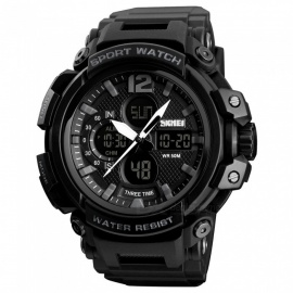 SKMEI 1343 50m Waterproof Men's Digital Sports Watch - Black