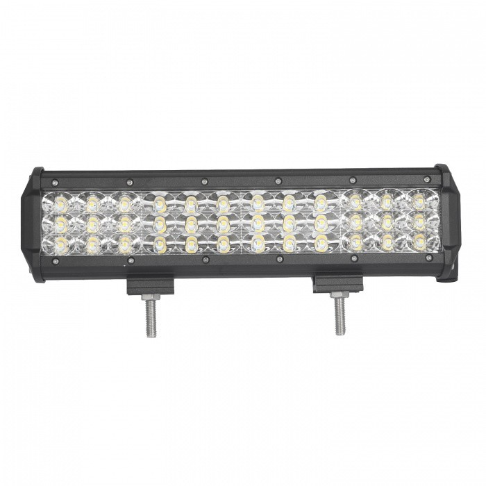 MZ 12 Inches Tri-Row 108W Combo 10800LM LED Work Light Bar for Off-roadDecorative Lights / Strip<br>Color BIN108W COMBOForm  ColorBlackEmitter TypeLEDChip BrandCreeChip TypeN/ATotal EmittersOthers,36PowerOthers,108WColor Temperature6000 KTheoretical Lumens12960 lumensActual Lumens10800 lumensRate Voltage10-30V DCWaterproof FunctionYesConnector TypeOthers,WiredApplicationHeadlamp,Foglight,Roof light,Daytime running lightModelTri-Row-108W-CQuantity1 pieceMaterialAluminumPower108 WPacking List1 x LED Work Light<br>