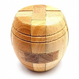Wooden Classical Cylindrical Drum Shape Stress Relief Educational Toy for Kids, Adults