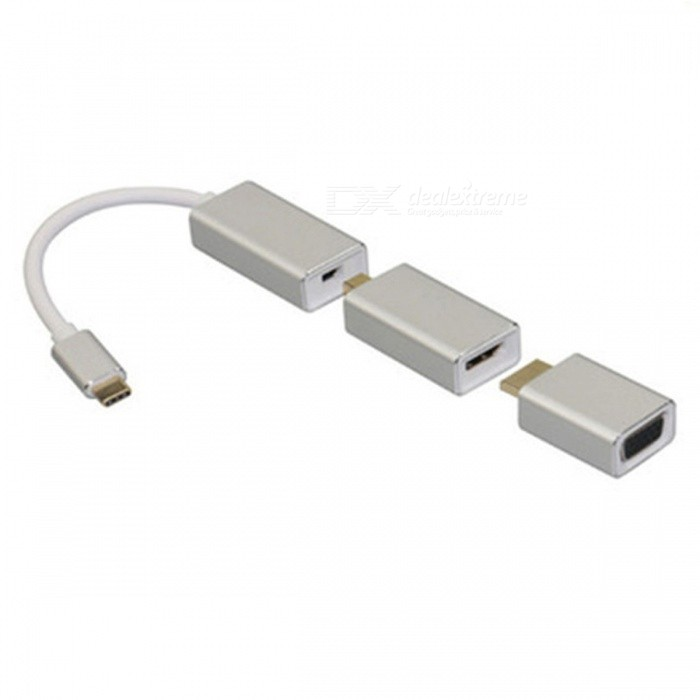 USB3.1 Type-C to Mini Displayport DP / VGA / HDMI Adapter�� Male to Female Converter HDTV Cable for Macbook Pro