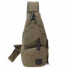 Stiucce 502 canvas sling shoulder bag backpack, crossbody chest rucksack for sports travel - light coffee