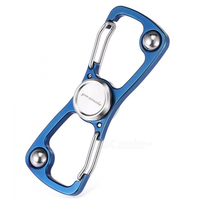 CTSmart Multi-Purpose Outdoor Camping Stainless Steel Fingertip Gyro Keychain - BlueColorBlueQuantity1 pieceMaterial3Cr13 stainless steelSize7*1.7*0.5cmFeaturesCamping decompressionApplicationCan do keychain, carabiner, bottle openerOther FeaturesProduct Material: 3Cr13 stainless steel, bearings: stainless steel.Packing List1 x Key ring 1 x Tin<br>