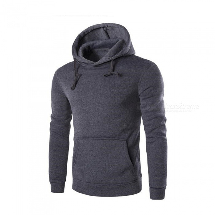 CTSmart 1366-WY14 Mens Casual Fleece Sweatshirt Hoodie - Dark Gray (M)Hoodies &amp; Sweatshirts<br>ColorDark graySizeMModel1366-WY14Quantity1 pieceShade Of ColorBlackMaterialCotton + polyester cottonStyleSportsShoulder Width42 cmChest Girth100 cmWaist Girth100 cmSleeve Length61 cmTotal Length62 cmSuitable for Height170 cmPacking List1 x Hoodie<br>