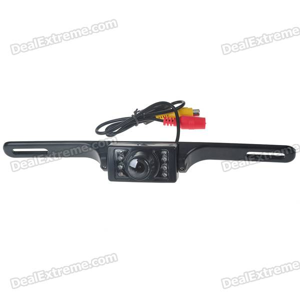 E322 Vehicle Rear Sight Waterproof Video Camera with 7-LED Night Vision (DC 12V/NTSC)