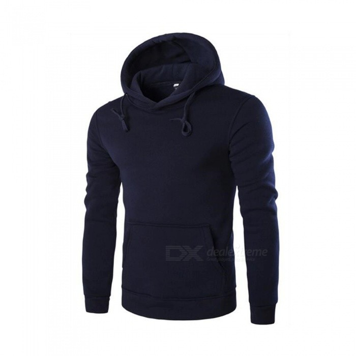 CTSmart 1366-WY14 Mens Casual Fleece Sweatshirt Hoodie - Navy Blue (L)Hoodies &amp; Sweatshirts<br>ColorNavy BlueSizeLModel1366-WY14Quantity1 pieceShade Of ColorBlueMaterialCotton + polyester cottonStyleSportsShoulder Width43 cmChest Girth104 cmWaist Girth104 cmSleeve Length62 cmTotal Length63 cmSuitable for Height175 cmPacking List1 x Sweater<br>