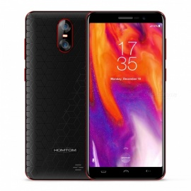 HOMTOM S12 MTK6580 Quad-core Mobile Phone 8MP+2MP Rear Camera 5MP Front Camera 5.0-inch FWVGA 18:9 Full Screen - Black + Red