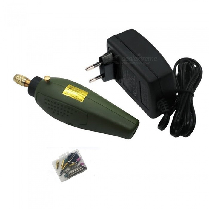 Mini Electric Drill accessories Electric Grinding Set 12V DC Grinder Tool for Milling Polishing Drilling EngravingColorGreenQuantity1 setVoltage12 VPower20 WPacking List1 x Electric drill1 x Power adapter<br>