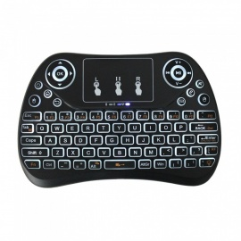 BLCR 2.4GHz Portable Mini Wireless Keyboard with Touchpad Mouse for Android TV BOX,PC,PAD,XBOX 360,PS3,HTPC,IPTV (White Backlit)
