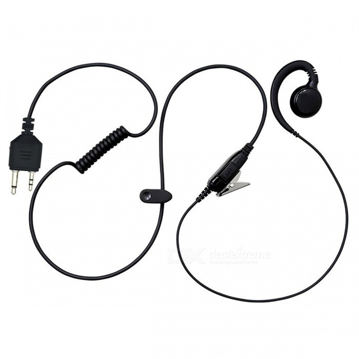 Small Horn Earphone Headphone for Walkie Talkie MIDLAND GXT400 GXT450 GXT500, GXT550Walkie Talkies Supplies<br>ColorBlackQuantity1 setMaterialPVCCompatible Brand-Compatible Model-Packing List1 x Earphone<br>