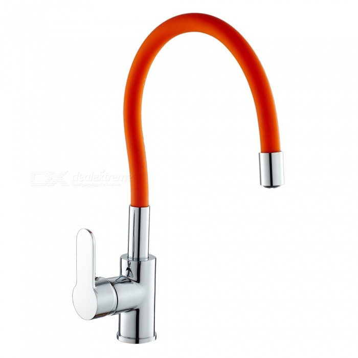 F-9104C Brass Chrome 360 Degree Rotatable Ceramic Valve Single Handle One-Hole Kitchen Faucet - OrangeKitchen Faucets<br>ColorOrangeSizeOther Regions/CountriesModelF-9104CMaterialBrassQuantity1 setFinishChromeValve TypeCeramic ValveNumber of handlesSingleSpout Height25 cmSpout Length20 cmTotal Height38 cmPacking List1 x Faucet2 x Stainless steel tubes (60cm)<br>