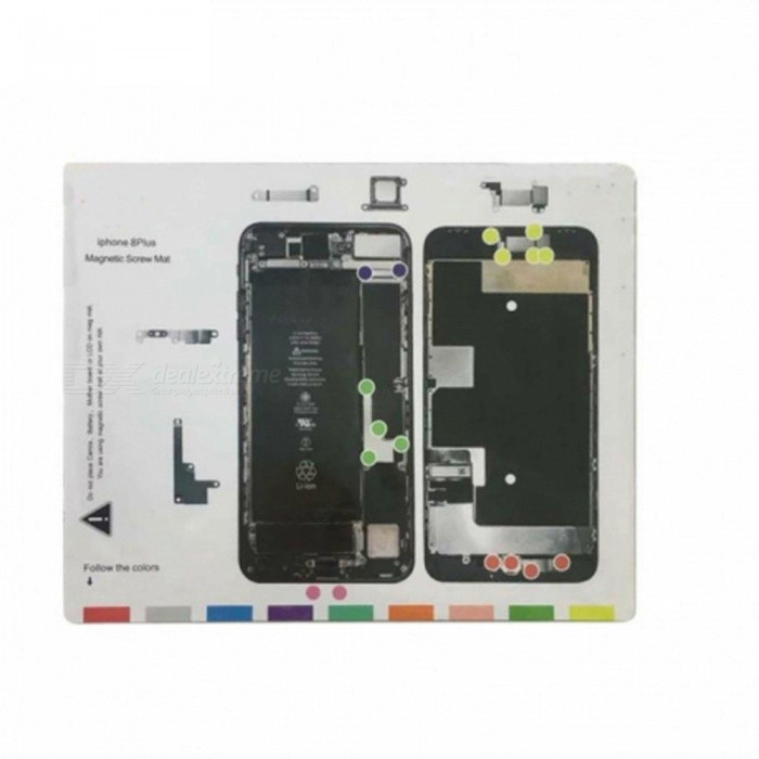 OJADE Professional Magnetic Pad with Screws for IPHONE 8 PlusOther Tools<br>ColorWhiteQuantity1 setMaterialMetalPacking List1 x Tool<br>