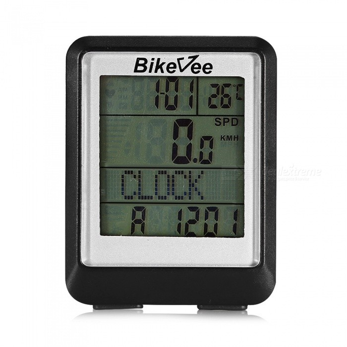 Multi-Function Wireless Waterproof Bike Stopwatch - BlackBike Computer<br>ColorblackQuantity1 pieceMaterialABSScreen Size5.842 cmBattery TypeCR2032 batteryBattery Number1Battery included or notYesWaterproofYesBacklightnoData interfaceMini USBPacking List1 x Stopwatch1 x Magnet1 x Base1 x Apron 1 x English manual1 x CR2032 Battery1 x Sensor (1 x CR2032 battery is required)2 x Patches4 x Cable ties<br>