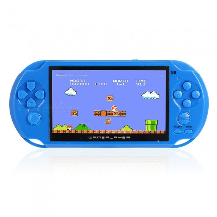 Handheld 8GB 5 Inches Pocket Player Game Console with 350 Classic Games, 0.3MP Camera - BlueOther Consoles Accessories<br>ColorBlueQuantity1 pieceMaterialABSShade Of ColorBluePacking List1 x Handheld Game console1 x Lithium Battery1 x Earphone1 x AV Output Cable1 x Charger1 x English Instruction<br>