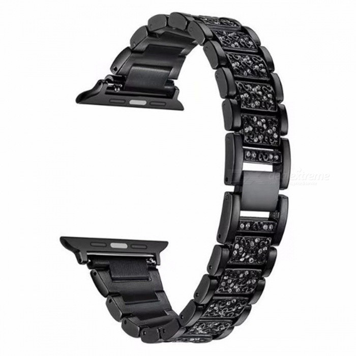 Stainless Steel Strap Crystal Diamond Bracelet For Apple Watch 1/2 38mmWearable Device Accessories<br>ColorblackQuantity1 pieceMaterialStainless steelPacking List1 x Band<br>
