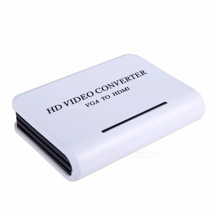 Dayspirit VGA to HDMI 1080P HD Video Converter, Audio Adapter Box - WhiteAV Adapters And Converters<br>ColorWhiteModelN/AMaterialABSQuantity1 setConnectorHDMI,VGAPacking List1 x VAG to HDMI Converter1 x Charger1 x User manual<br>