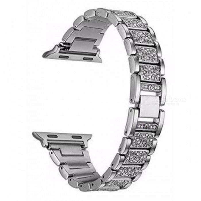 Stainless Steel Strap Crystal Diamond Bracelet For Apple Watch 1/2 38mmWearable Device Accessories<br>ColorSilverQuantity1 pieceMaterialStainless steelPacking List1 x Strap<br>
