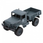 WPLB-14 2.4Ghz 4-CH 1:16 4WD Full Function Remote Control Military Truck RC Car - Army Green