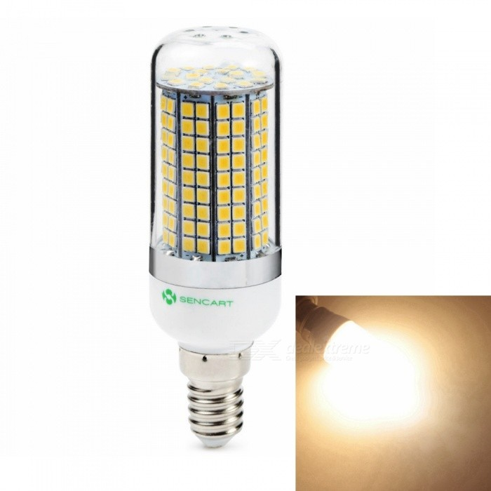 Sencart E14 8W 800LM SMD Warm White Energy Saving LED Light Blub Lamp AC110V-130VE14<br>ColorWarm WhiteModel180 LEDMaterialABS+LED+PCBForm  ColorWhiteQuantity1 piecePowerOthers,8WRated VoltageAC 220-240 VConnector TypeE14Chip BrandEpistarChip Type2835Emitter TypeOthers,2835SMDTotal Emitters180Theoretical Lumens1200 lumensActual Lumens800 lumensColor Temperature6500KDimmableNoBeam Angle360 °Packing List1 x LED Light Bulb<br>