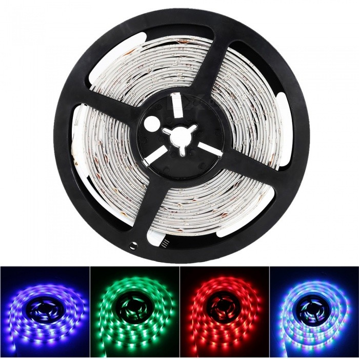Sencart 5M 5630 RGB 300LED Waterproof Strip Light Flexible Tape DC12V Indoor Outdoor Lighting Decor5630 SMD Strips<br>ColorRGBModel5M 5630RGBMaterialLED+PCBForm  ColorWhiteQuantity1 piecePower72WRated VoltageDC 12 VChip BrandEpistarEmitter Type5630 SMD LEDTotal Emitters300WavelengthRed: 635-700 nm Blue: 450-490 nm Green: 490-560 nmTheoretical Lumens7500 lumensActual Lumens3500 lumensPower AdapterSolar PoweredPacking List1 x 5630 RGB LED Strip<br>