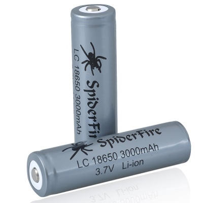SpiderFire Protected 18650 3.7V 3000mAh Batteries (Pair)