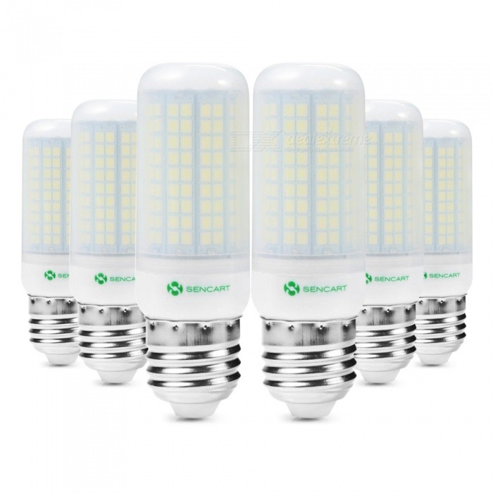 Sencart 6pcs E27 8W 800LM SMD Cool White Energy Saving LED Light Blub Lamp Matte Shell AC220-240VE27<br>Emitting ColorCoole WhitePower SupplyAC220-240VModel180 LEDMaterialABS+LED+PCBForm  ColorOthers,MattingQuantity6 piecePower8WPower SupplyOthers,AC110-130 VConnector TypeE27Chip BrandEpistarChip Type2835Emitter TypeOthers,2835SMDTotal Emitters180Color BINCold WhiteTheoretical Lumens1200 lumensActual Lumens800 lumensColor Temperature6500KDimmableNoBeam Angle360 °Packing List6 x LED Light Bulbs<br>