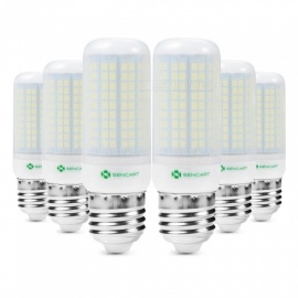 Sencart 6pcs E27 8W 800LM SMD Cool White Energy Saving LED Light Blub Lamp Matte Shell AC220-240V