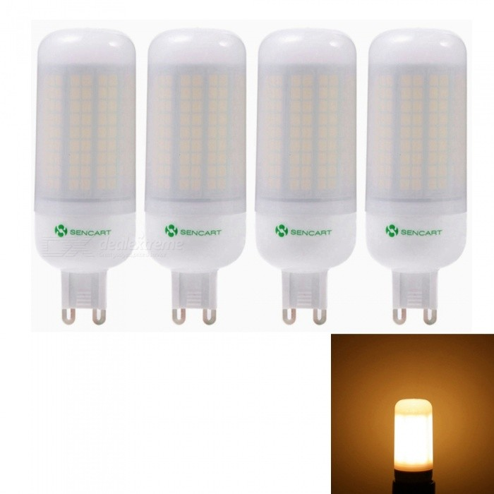 Sencart 4pcs G9 8W 800LM SMD Warm White Energy Saving LED Light Bulb Lamp Matte Shell AC 220-240VG9<br>Emitting ColorWarm WhitePower SupplyAC220-240VModel180 LEDMaterialABS+LED+PCBForm  ColorOthers,MattingQuantity4 piecesPower8WRated VoltageAC 220-240 VConnector TypeG9Chip BrandEpistarChip Type2835Emitter TypeOthers,2835SMDTotal Emitters180Theoretical Lumens1200 lumensActual Lumens800 lumensColor Temperature3000KDimmableNoBeam Angle360 °Packing List4 x LED Light Bulbs<br>