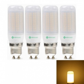 Sencart 4pcs GU10 8W 800LM SMD Warm White Energy Saving LED Light Bulb Lamp Matte Shell AC 220-240V