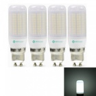 Sencart 4pcs GU10 8W 800LM SMD Cool White Energy Saving LED Light Bulb Lamp Matte Shell AC 220-240V