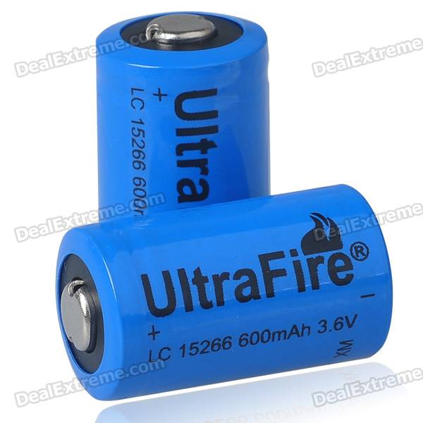 UltraFire 15266 3.6V 600mAh Batteries (Pair)