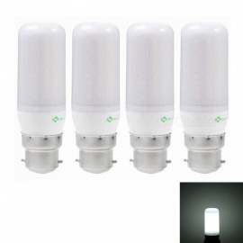 Sencart 4pcs B22 8W 800LM SMD Cool White Energy Saving LED Light Bulb Lamp Matte Shell AC 220-240V