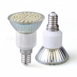 qook E14 3528 SMD 60-LED spot voor thuis, koud witte spotlamp