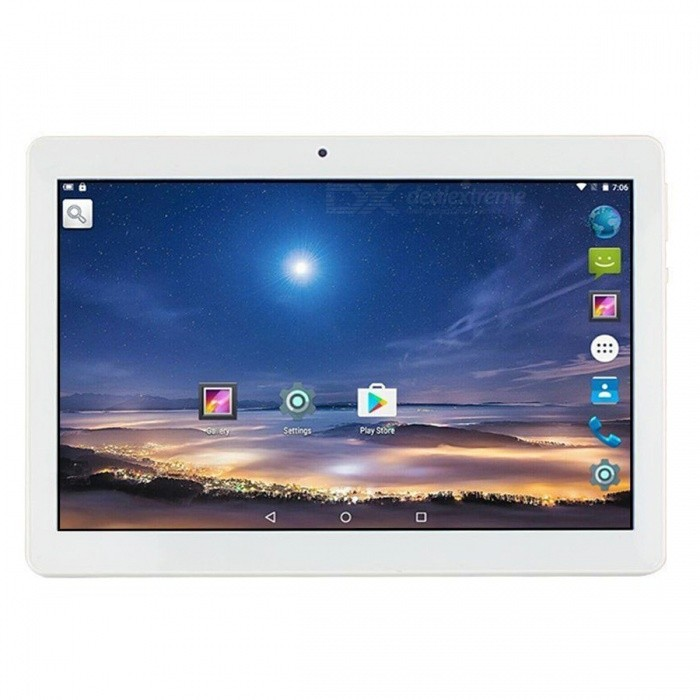 Binai G10 MediaTek MT6753 Octa-Core 1.5GHz Mali720 Graphics 10.1 Tablet with 3GB RAM, 64GB ROM - SilverAndroid Tablets<br>ColorSilverBrandOthersModelG10Quantity1 setMaterialMetal + ABSProcessor BrandOthers,MT6753 Octa-CoreProcessor ModelOthers,MT6753 Octa-CoreProcessor Speed1.5 GHzNumber of CoresOcta-CoreGPUMali720Built-in Memory / RAMOthers,3GBCapacity / ROM64GBScreen Size10.1 inchesScreen Size9 inches~10.1 inchesScreen TypeIPSTouch TypeCapacitive screenResolution1920 x 1200Touch Point5-point Capacitive Touch Screen3G TypeTD-SCDMA,CDMA20004G standardFDD-LTE,TD-LTEOperating SystemAndroid 7.0Supported NetworkWifi,4GGPSYesBuilt-in SpeakersYesInterface1 x 3.5mmGoogle Play(Android Market)YesCamera type2 x CamerasFront Camera Pixels2.0 MPBack Camera Pixels8.0 MPStorage InterfaceTFSupported LanguagesEnglish,French,German,Italian,Spanish,Portuguese,Russian,Vietnamese,Polish,Greek,Danish,Norwegian,Dutch,Arabic,Turkey,Japanese,Bahasa Indonesia,Korean,Thai,Maltese,Hungarian,Latin,Persian,Malay,Slovak,Czech,Romanian,Swedish,Finnish,Simplified Chinese,Traditional Chinese,Bulgarian,Norwegian,HebrewBattery Capacity6500 mAhPacking List1 x Binai G10 Octa Core Tablet PC1 x USB Cable1 x OTG1 x Charger1 x Adapter<br>