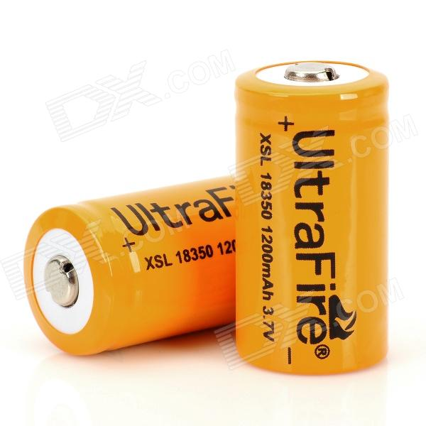 UltraFire 18350 3.7V 1200mAh Batteries (Pair)