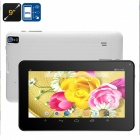 Quad-core 9-inch hd display android tablet pc with 512mb ram, 8gb rom - white