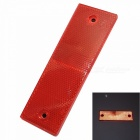 Rectangle night safety warning reflective strips for truck / vechile - red
