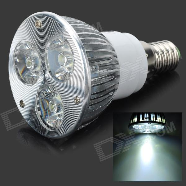 E14 3W 270-Lumen 6500K 3-LED White Light Lamp Bulb (85~265V) от DX.com INT