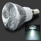E14 3W 270-Lumen 6500K 3-LED White Light Lamp Bulb (85~265V)