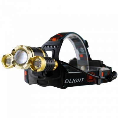AIBBER TONE 2000 Lumens Rechargeable LED Headlamp XM-L 3xT6 Flashlight Torch Waterproof Headlight