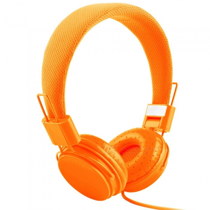 OJADE Adjustable Headband Headphone Headset with Extremely Soft Ear Pad, Noise Cancelling Stereo Sound EarphoneHeadphones<br>ColorOrangeBrandOthers,OJADEMaterialABSQuantity1 setConnection3.5mm WiredBluetooth VersionNoHeadphone StyleHeadbandWaterproof LevelOthers,noApplicable ProductsUniversalHeadphone FeaturesWith Microphone,PortableSupport Memory CardNoSupport Apt-XNoPacking List1 x Headset<br>