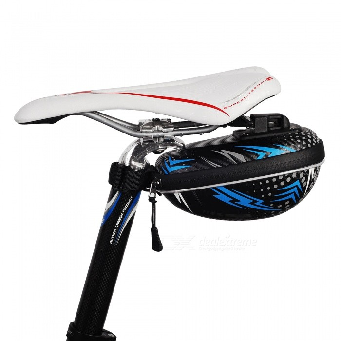 NUCKILY PL04 Portable Durable Bicycle Back Seat Saddle Bag, Tail Zipper Bag - BlueBike Bags<br>ColorBlueModelPL04Quantity1 pieceMaterialEVATypeSaddle BagsCapacityN/A mLWaterproofYesGenderUnisexBest UseCycling,Mountain Cycling,Recreational Cycling,Road Cycling,Triathlon,Bike commuting &amp; touringPacking List1 x Saddle bag<br>