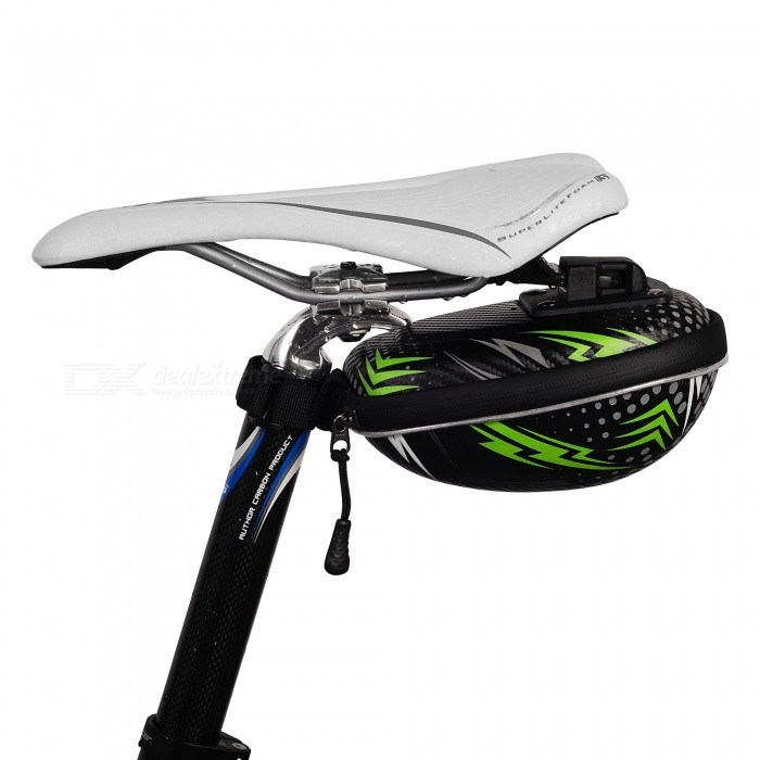 NUCKILY PL04 Portable Durable Bicycle Back Seat Saddle Bag, Tail Zipper Bag - GreenBike Bags<br>ColorGreenModelPL04Quantity1 pieceMaterialEVA foamTypeSaddle BagsCapacityN/A mLWaterproofYesGenderUnisexBest UseCycling,Mountain Cycling,Recreational Cycling,Road Cycling,Triathlon,Bike commuting &amp; touringPacking List1 x Saddle bag<br>