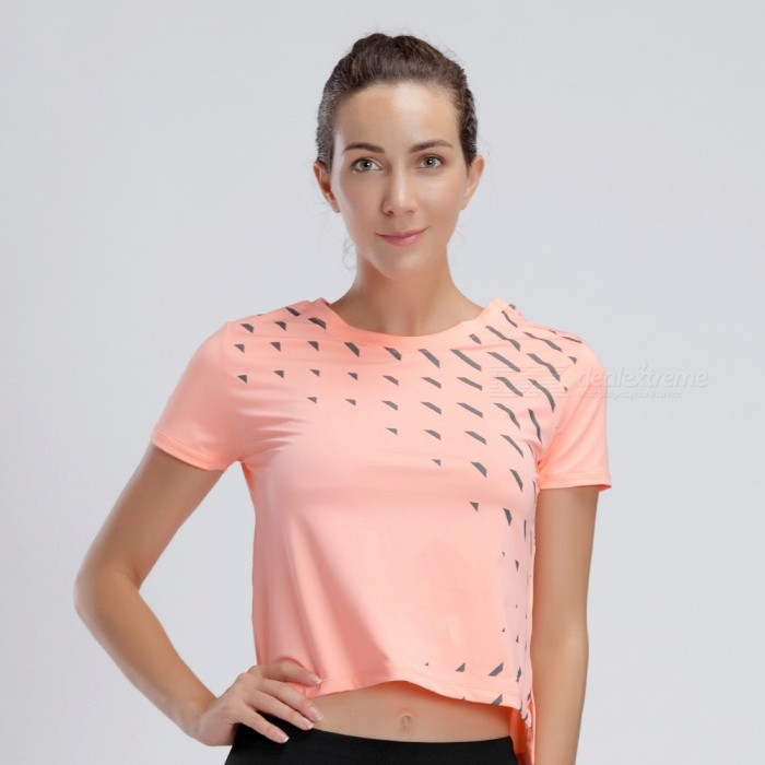 BARBOK Summer Bare Midriff Short Sleeve Yoga Jerseys Sportwear T-Shirt, Running Jogging Tops for Women - Orange (M)ColororangeSizeMModelLS293Quantity1 pieceMaterial87% polyester+13% spandexTypebare midriff and short sleeveNamesports shirtGenderWomenPacking List1 x Sports shirt<br>