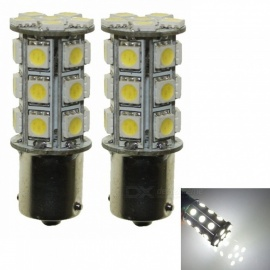 Sencart 2Pcs Ba15s 1156 1141 24-5050SMD White High Bright Car LED Bulbs, DC 12V