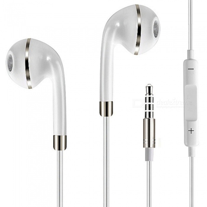 Universal 3.5mm Wired Stereo Headset Earphone with Microphone for Mobile Phones - White + SilverHeadphones<br>ColorWhite + SilverBrandOthers,N/AMaterialPVCQuantity1 DX.PCM.Model.AttributeModel.UnitConnection3.5mm WiredBluetooth VersionNoBluetooth ChipNoCable Length115 DX.PCM.Model.AttributeModel.UnitLeft &amp; Right Cables TypeEqual LengthHeadphone StyleBilateral,In-EarWaterproof LevelIPX7Applicable ProductsUniversal,Others,IPHONE 7,IPHONE 7 PLUS,NormalHeadphone FeaturesHiFi,English Voice Prompts,Phone Control,Long Time Standby,Magnetic Adsorption,Noise-Canceling,Volume Control,With Microphone,Lightweight,Portable,Game HeadsetRadio TunerNoSupport Memory CardNoSupport Apt-XNoSNRnormalSensitivitynormalTHDnormalFrequency ResponsenormalImpedancenormal DX.PCM.Model.AttributeModel.UnitBattery TypeOthersPower AdapterOthersPacking List1 x Binaural Stereo Earphone<br>