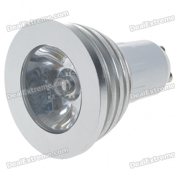 GU10 3W 16-Color LED Light Bulb with IR Remote Control (85~265V) 3w smd led 16 color light bulb with ir remote control 85 265v