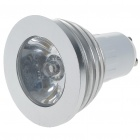 GU10 3W 16-Color LED Light Bulb with IR Remote Control (85~265V)