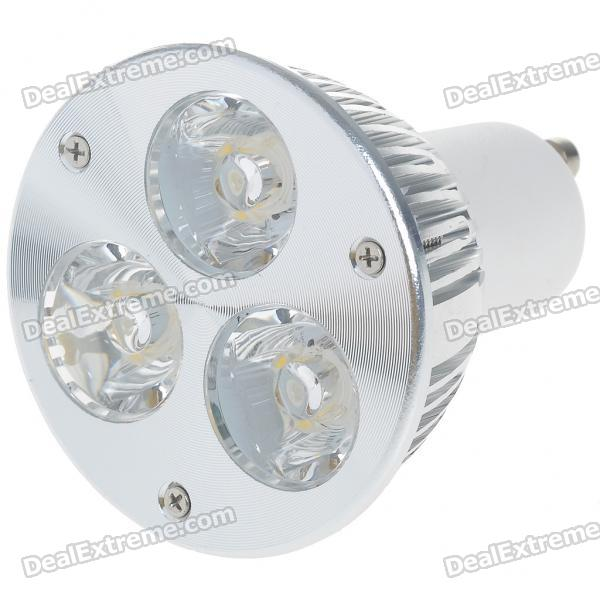 GU10 3W 260lm 3200K Warm White 3-LED Cup Bulb (85~265V)